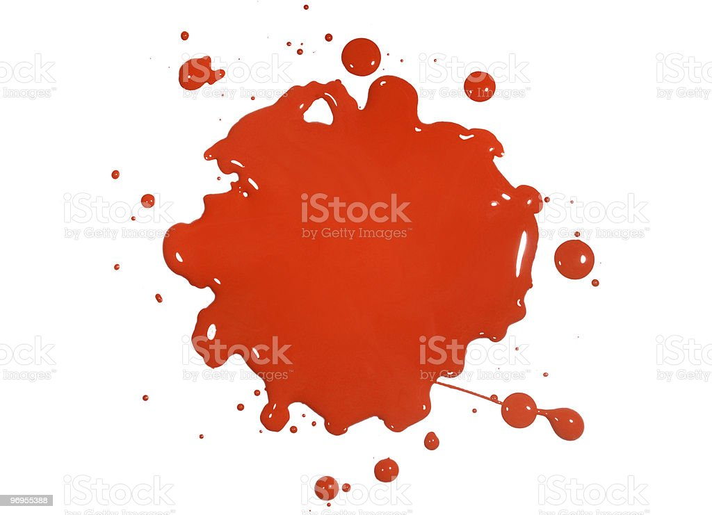 Red Paint Splatter royalty-free stock photo