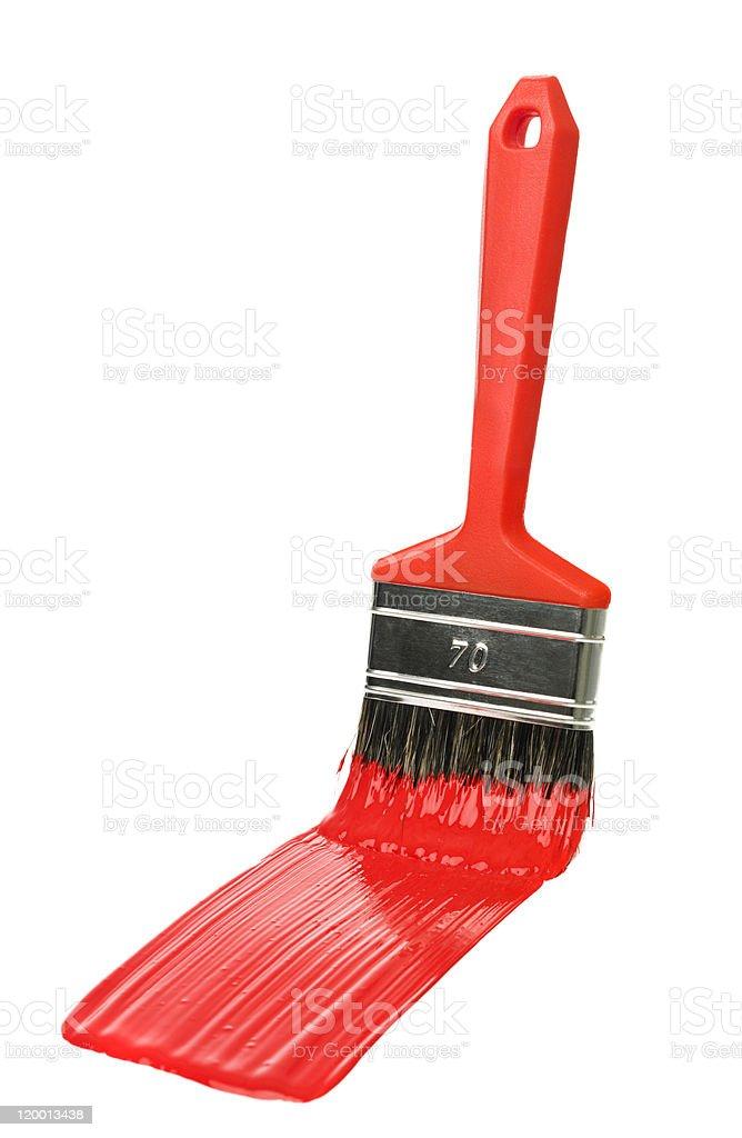 Red Paintbrush royalty-free stock photo