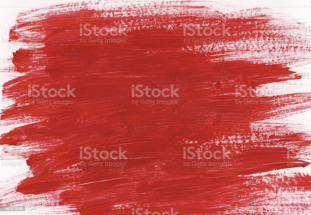Red painted brush strokes royalty-free stock vector art