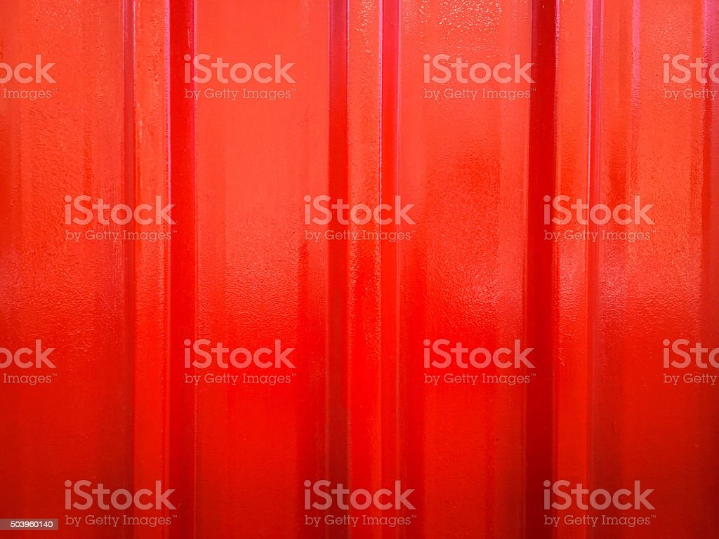red painted metal background. stock photo