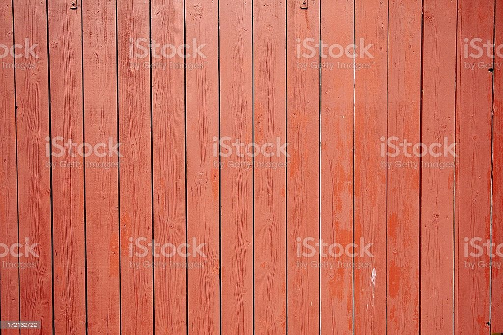 Red painted planks background stock photo