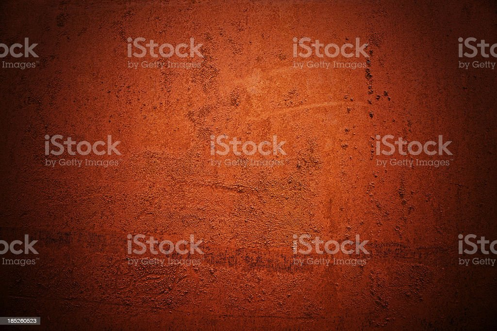 Red Painted Rusty Metal Background stock photo