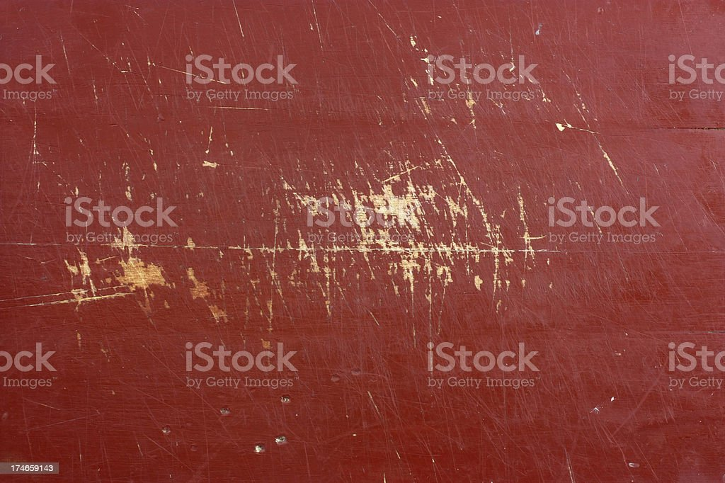 Red painted scratched wood abstract background stock photo