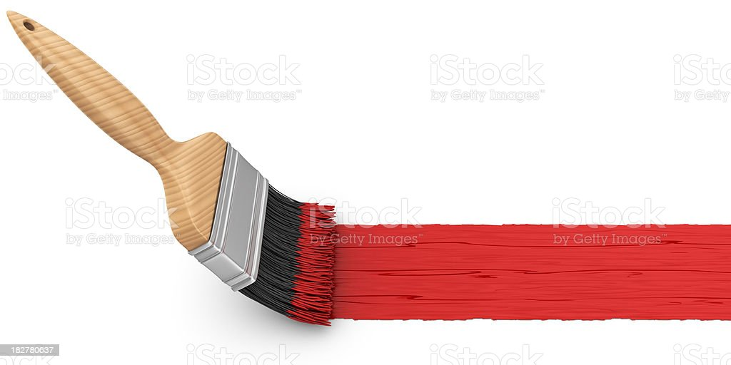 red painting stock photo