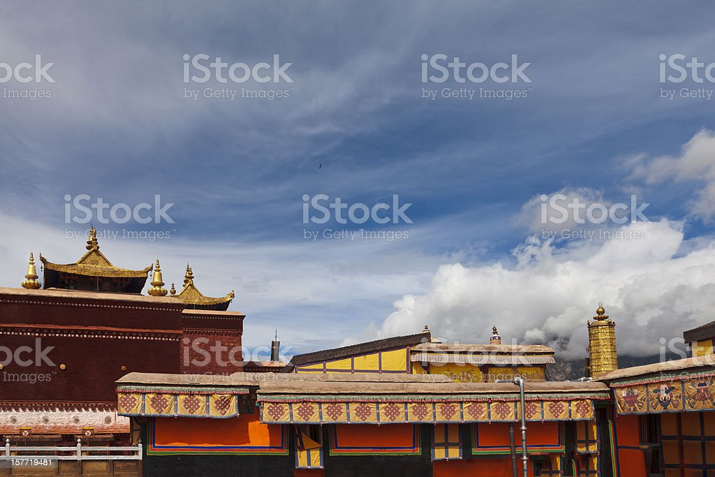 Red Palaces of the Potala Palace, Lahsa, Tibet, China stock photo