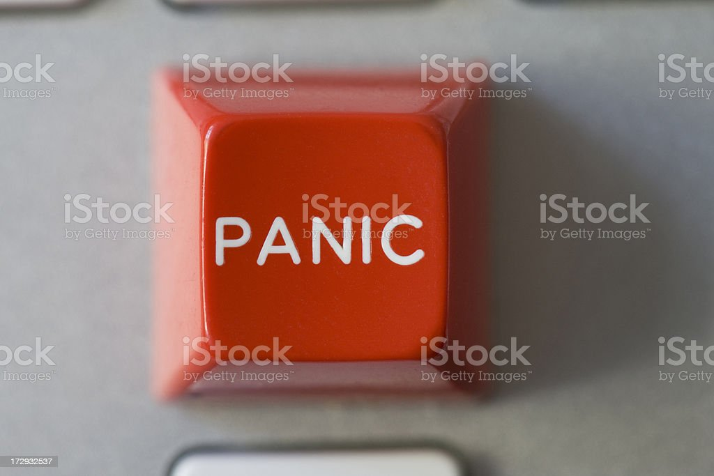 Red Panic Button royalty-free stock photo