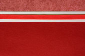 Red Paper Background with Ribbon Border