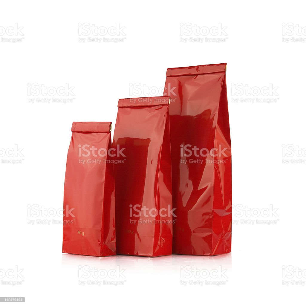 Red paper bags royalty-free stock photo