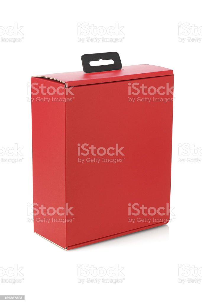 Red Paper Box royalty-free stock photo