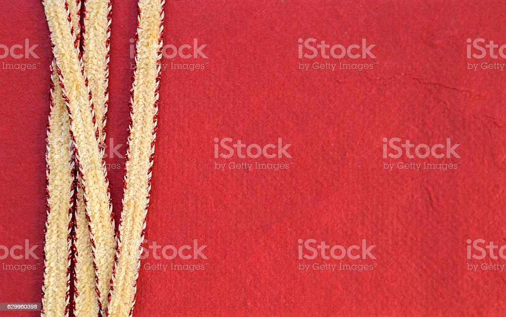 Red paper card background design idea stock photo