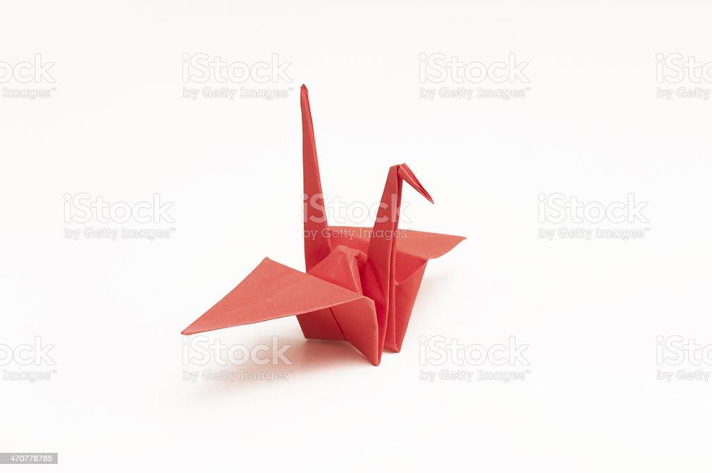 Red paper crane stock photo