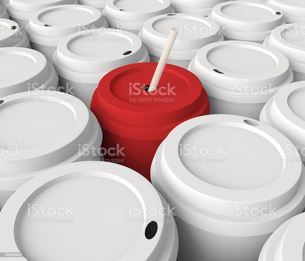 Red paper cup. royalty-free stock photo