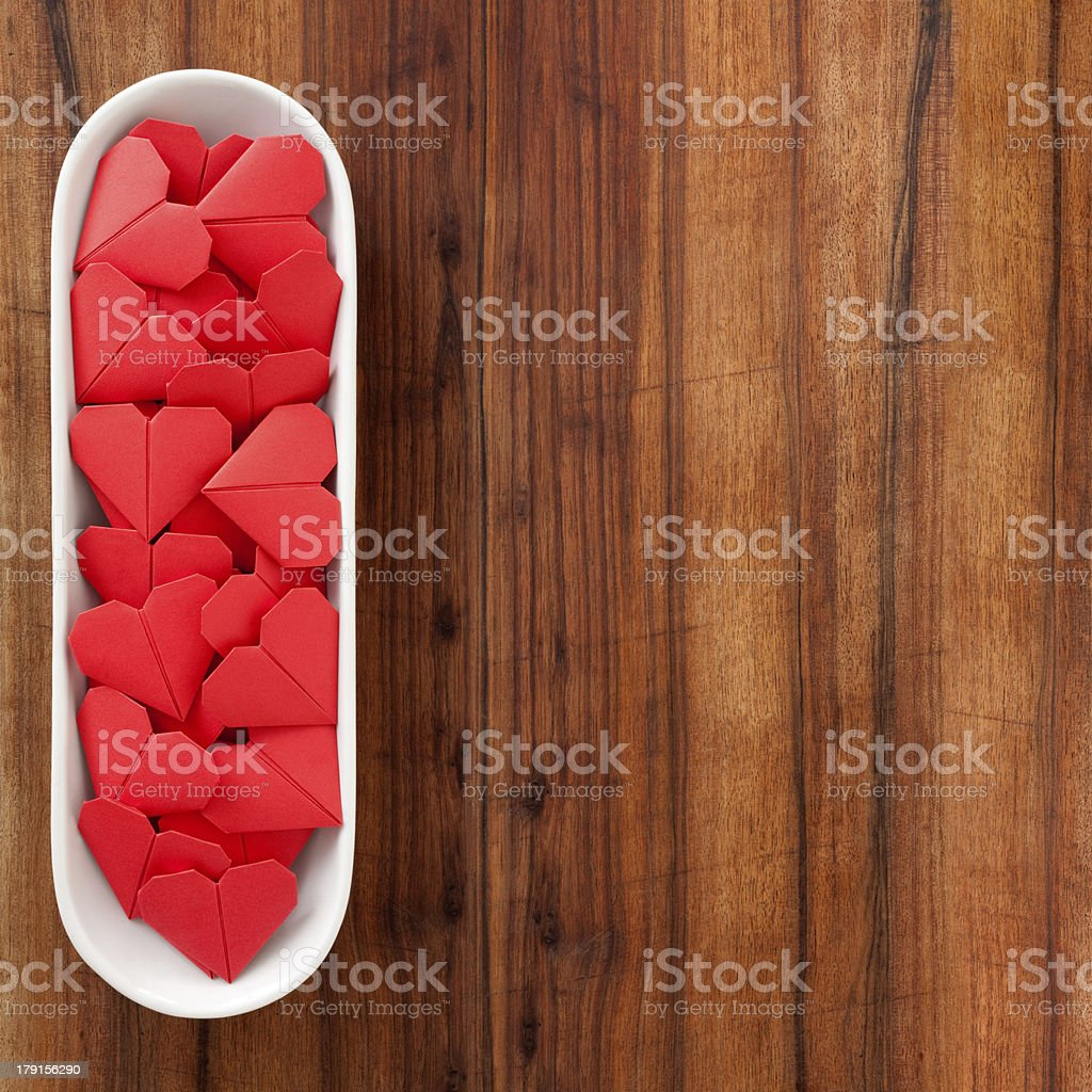 Red paper hearts royalty-free stock photo