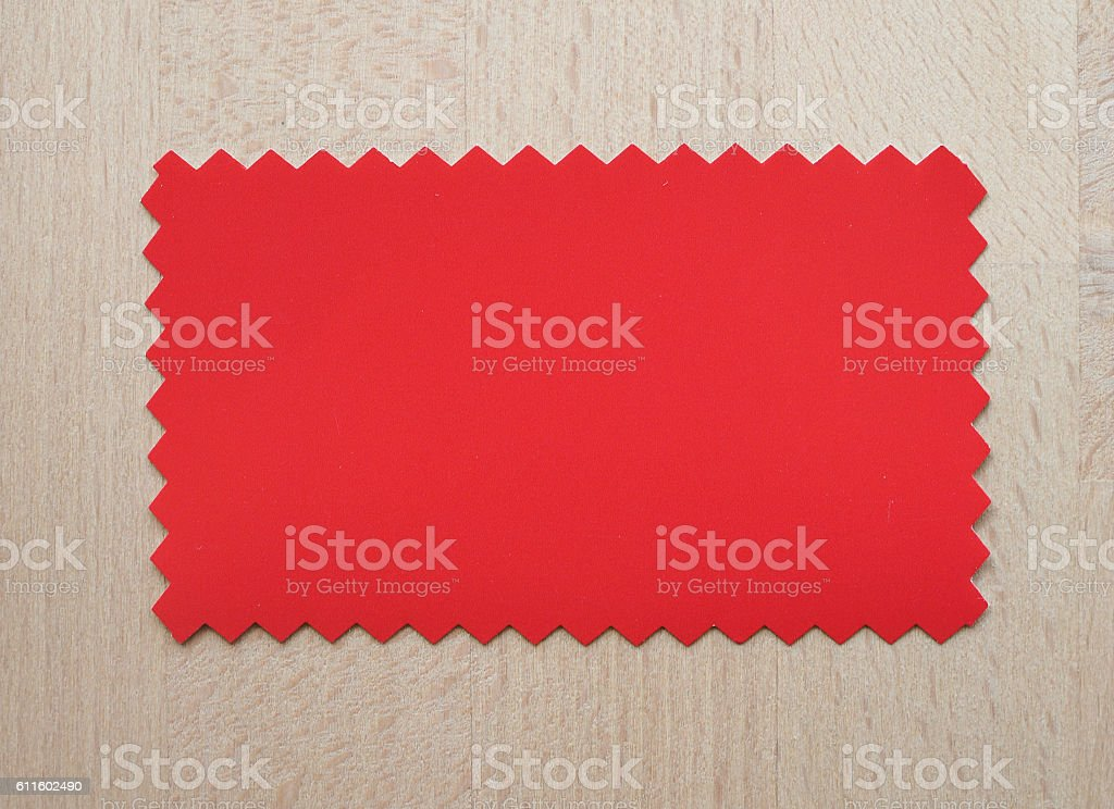 Red paper sample stock photo