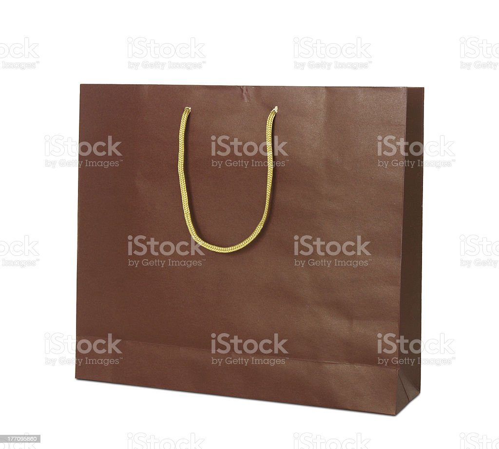 red paper shopping bag royalty-free stock photo