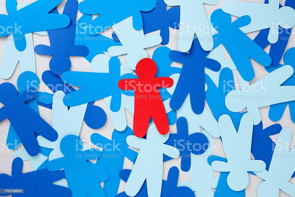 Red paper silhouette royalty-free stock photo