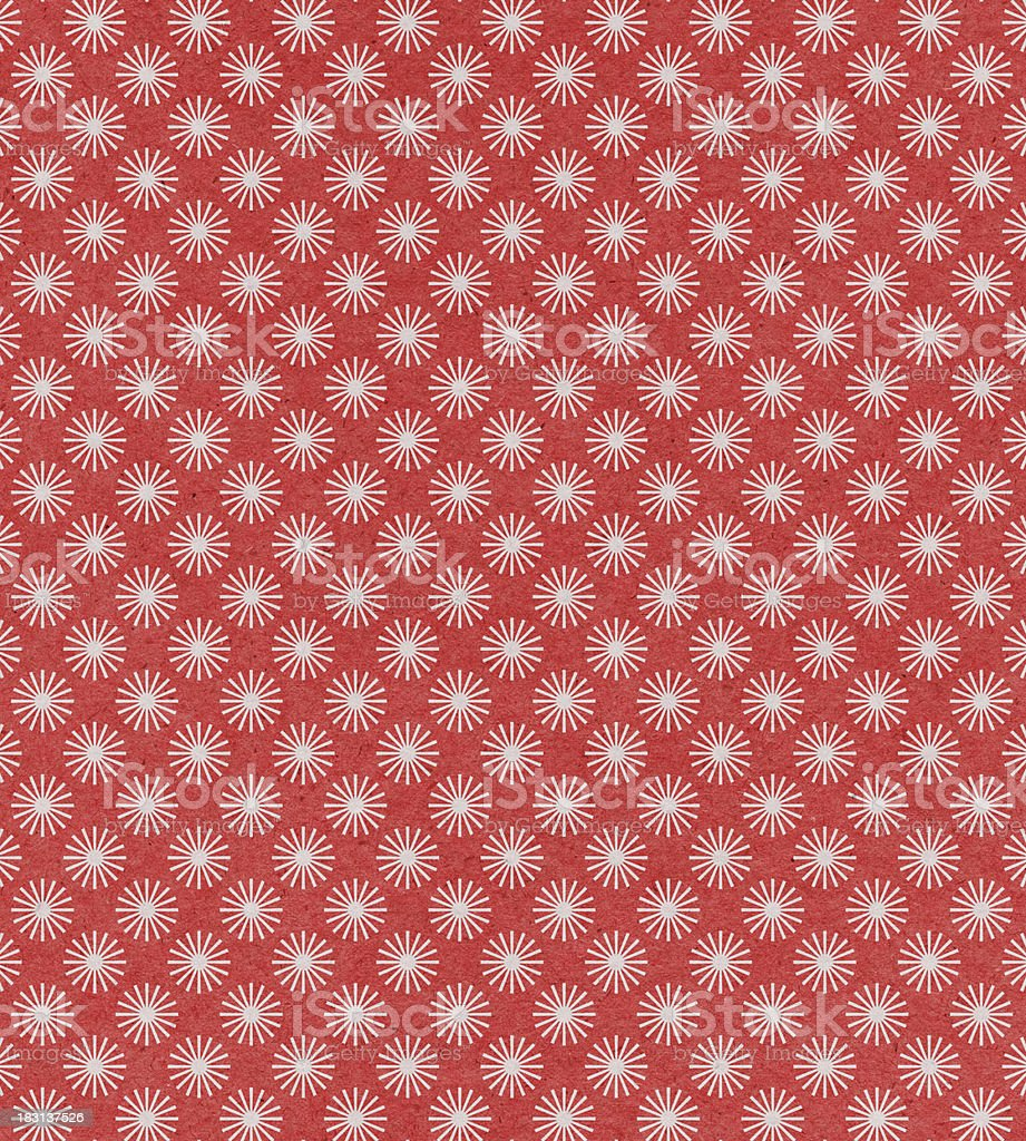 red paper with star pattern royalty-free stock photo