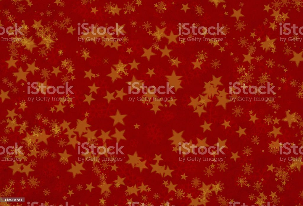 Red paper with star shapes royalty-free stock photo