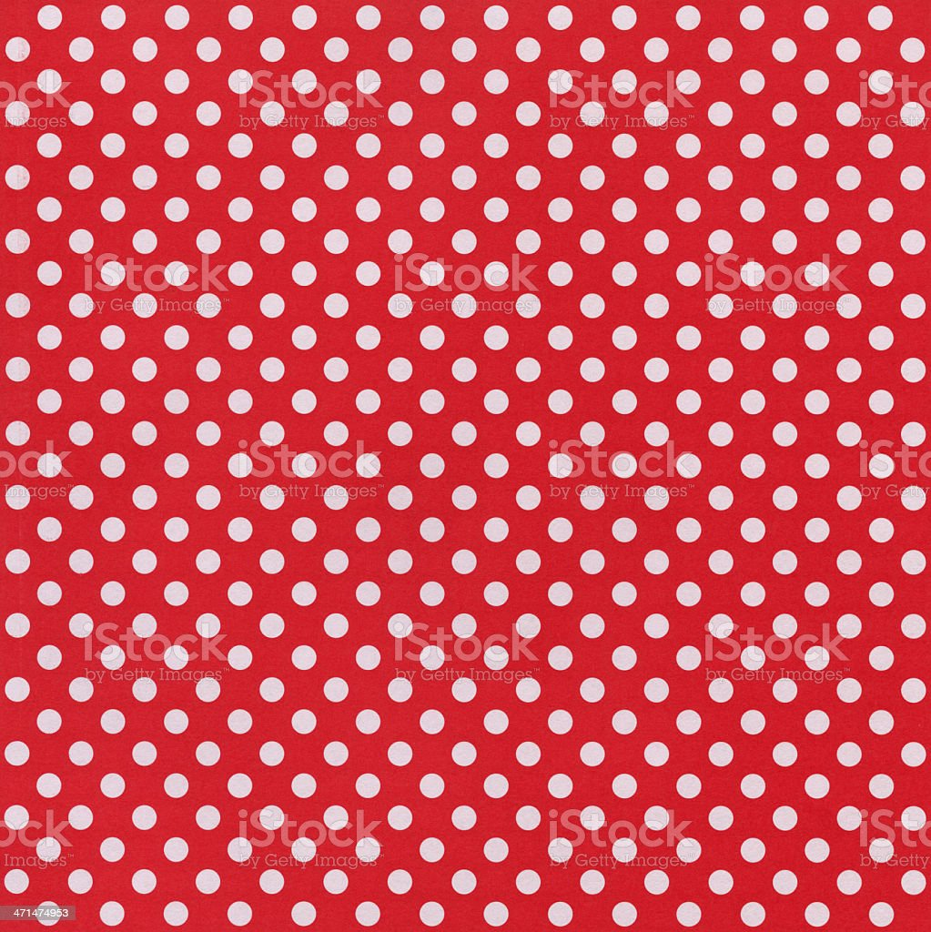 Red Paper with White Dots stock photo