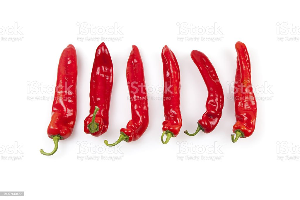 Red Paprika Chili Peppers stock photo