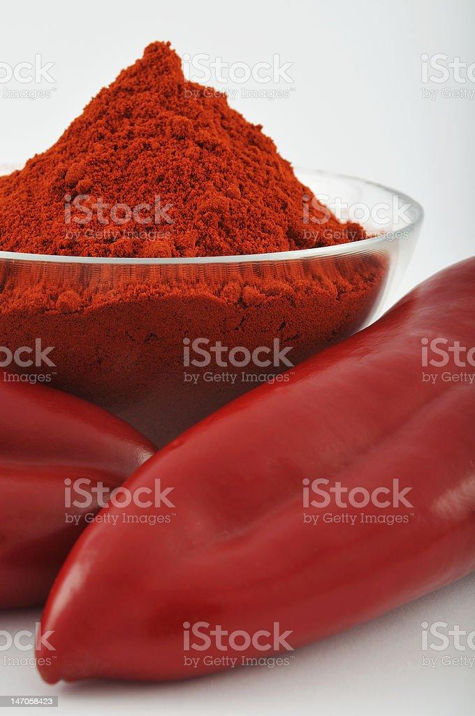 Red paprika powder stock photo