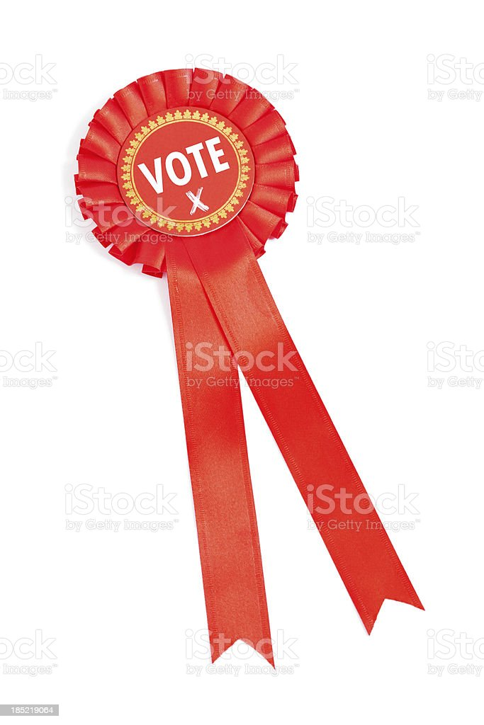 Red Party Vote royalty-free stock photo