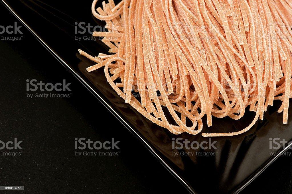 Red pasta stock photo