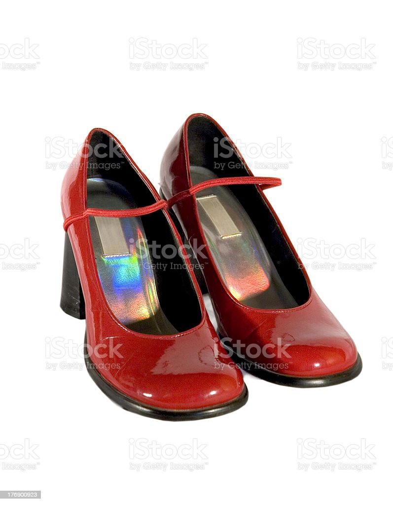 Red Patent Leather Pumps stock photo