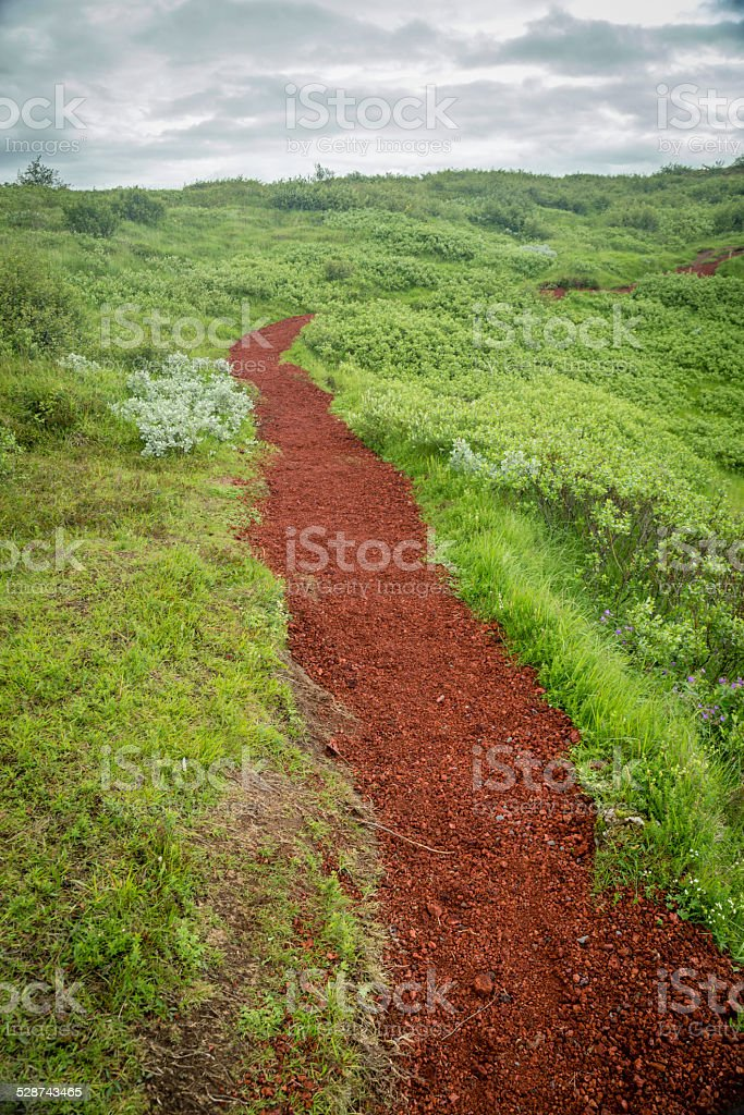 Red path stock photo