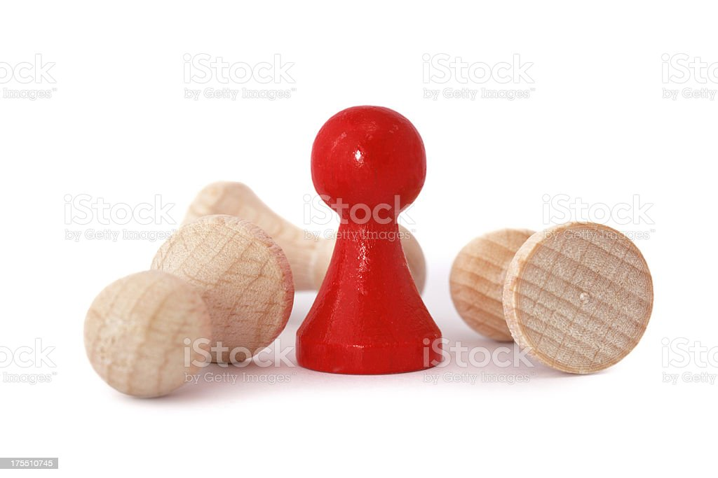 red pawn as winner royalty-free stock photo