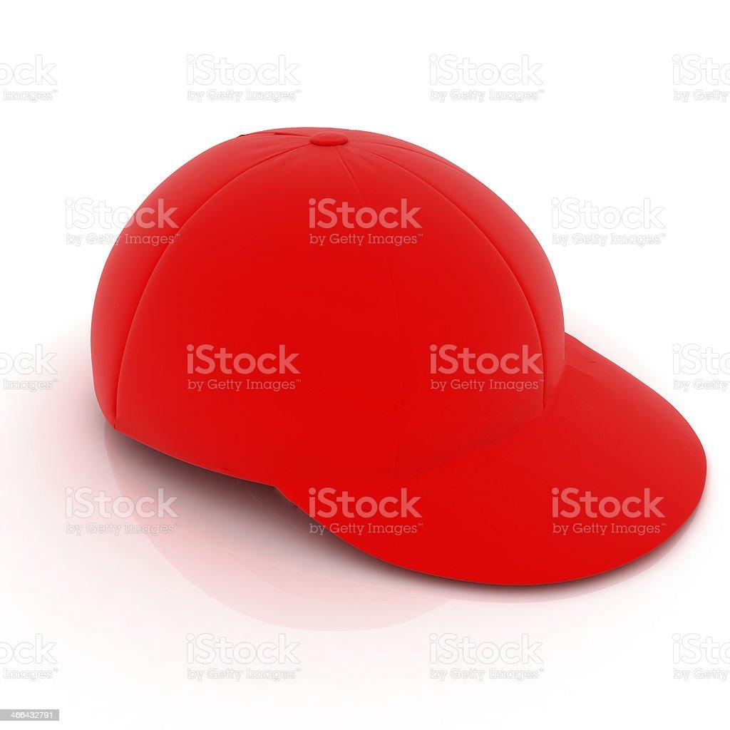 Red peaked cap stock photo
