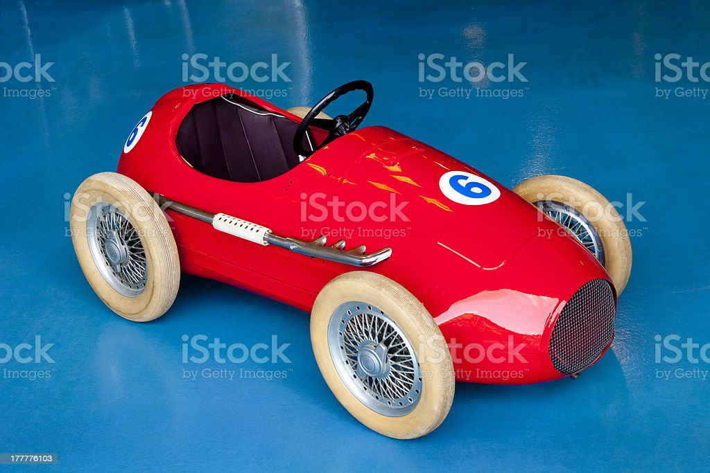 Red pedals car stock photo