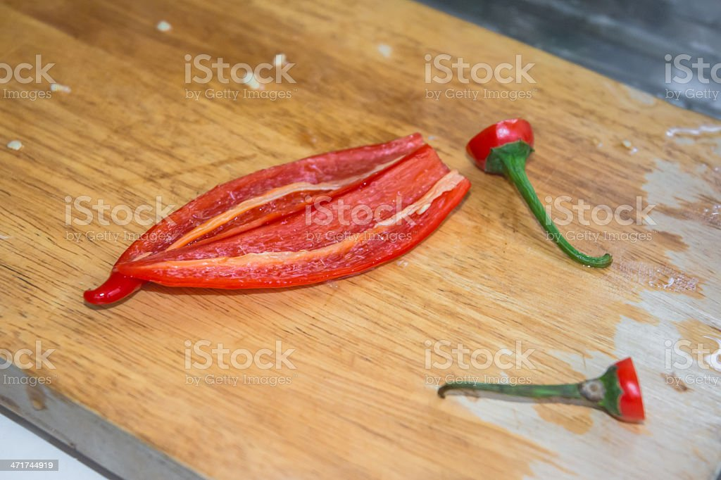 red peel Paprika peppers royalty-free stock photo