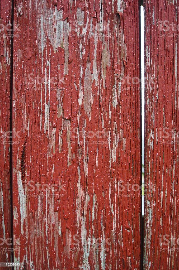 Red Peeling Paint on Covered Bridge royalty-free stock photo
