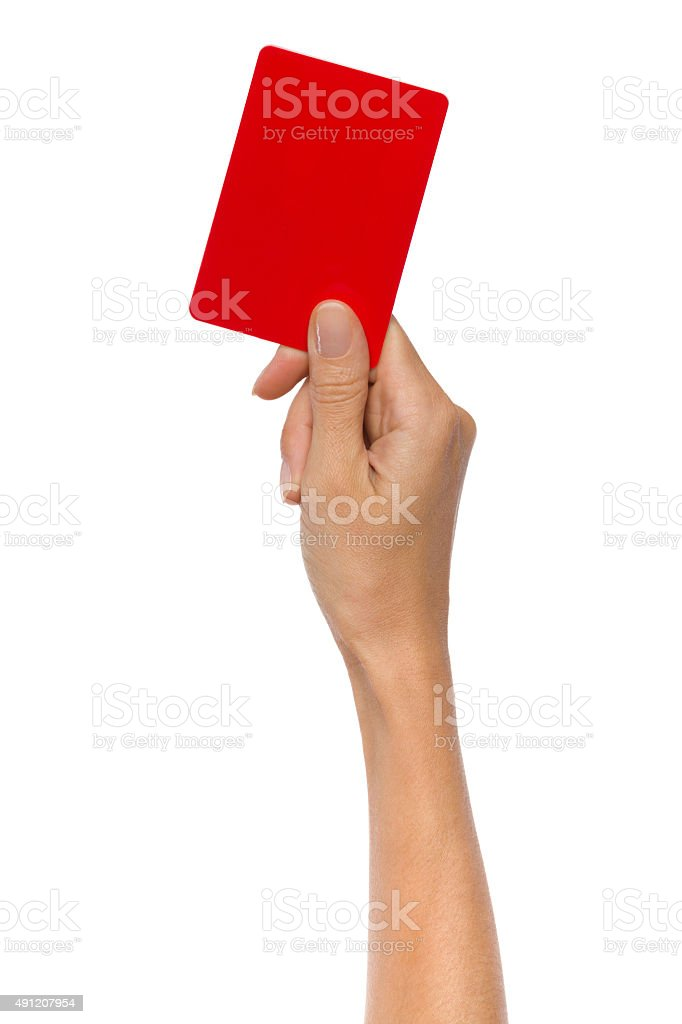 Red Penalty Card stock photo