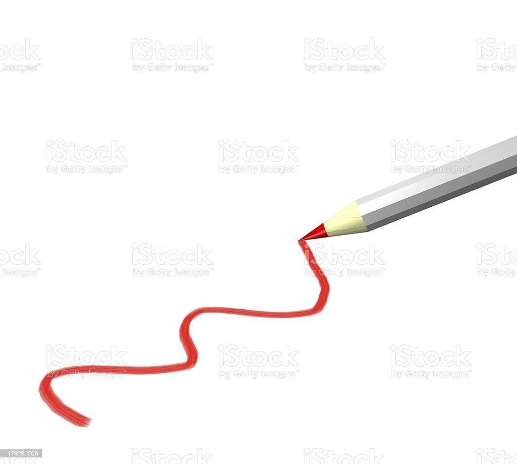 Rotstift mit Strich royalty-free stock photo