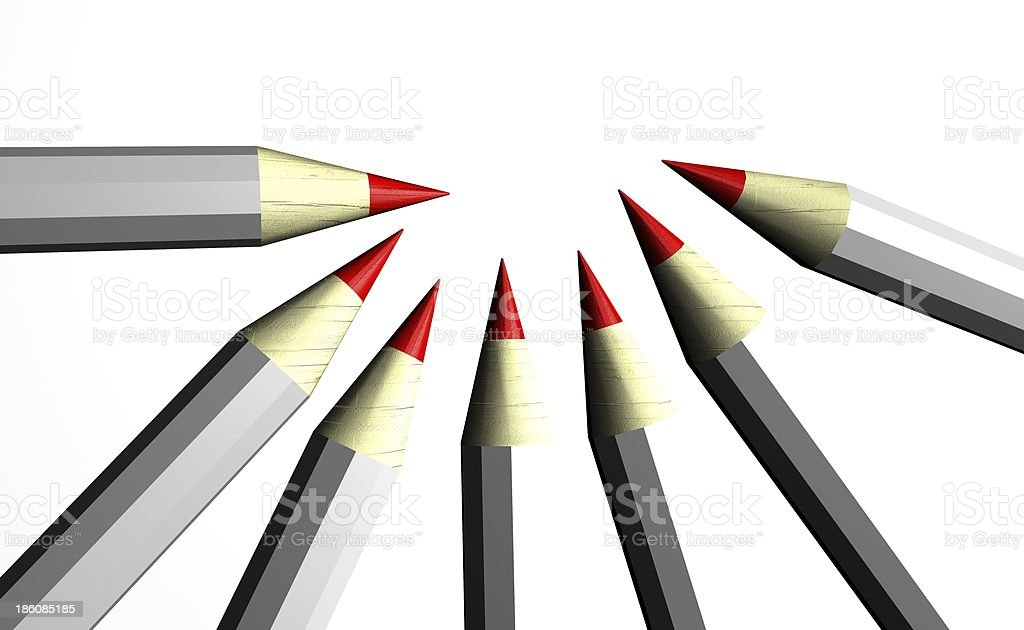 red pencils stock photo