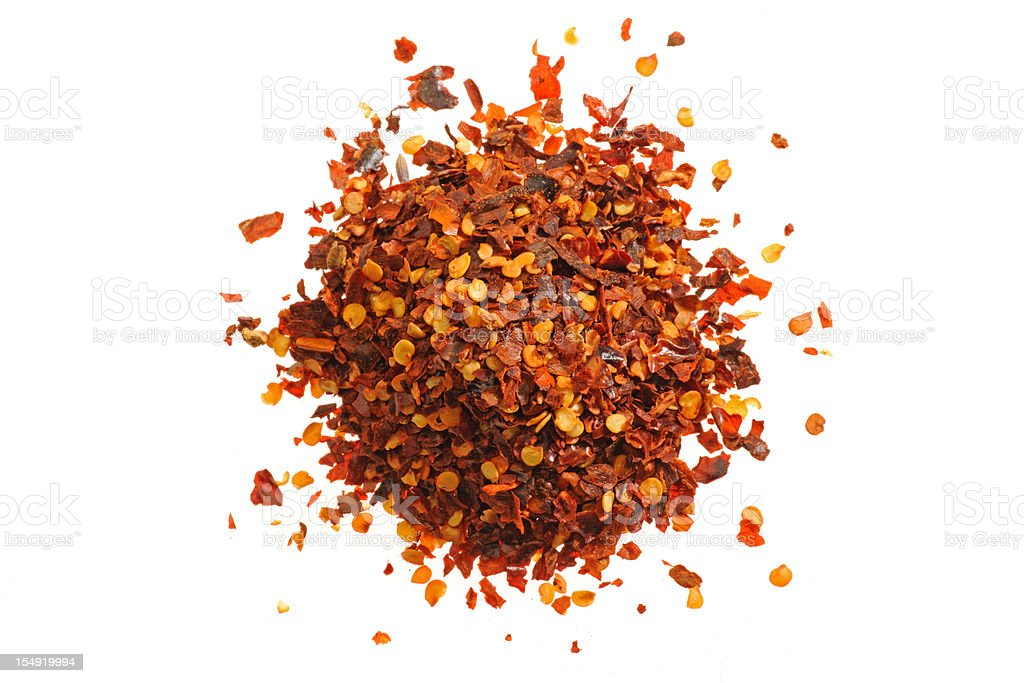 Red Pepper Flakes royalty-free stock photo