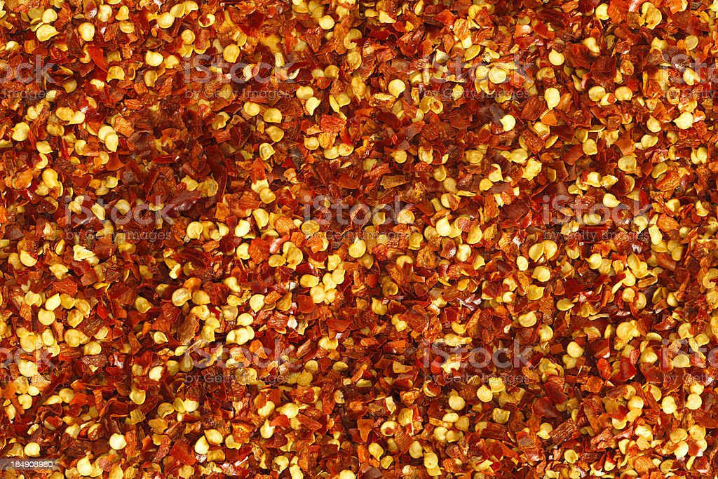 Red Pepper Flakes (seamless) stock photo