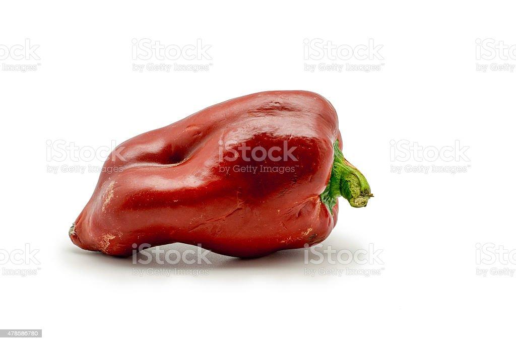 Pimenta vermelha em fundo branco. foto royalty-free
