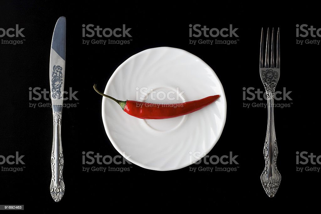 red pepper on the plate royalty-free stock photo