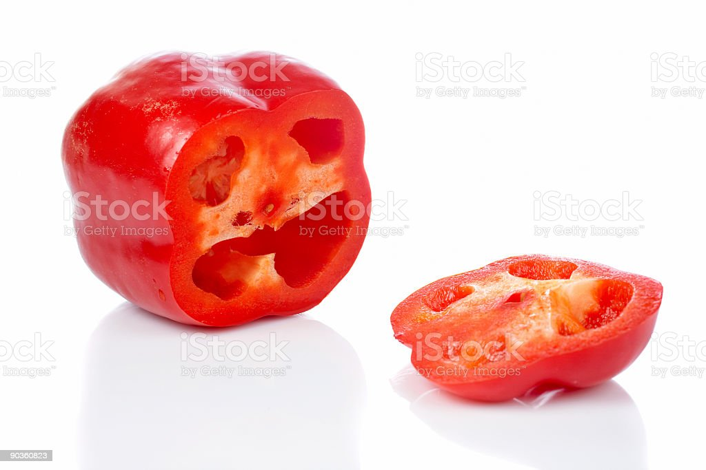 Red pepper slices royalty-free stock photo