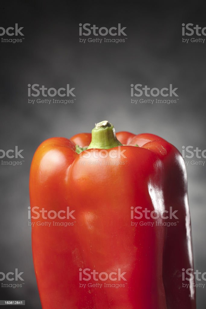 Red Pepper with Copy Space stock photo