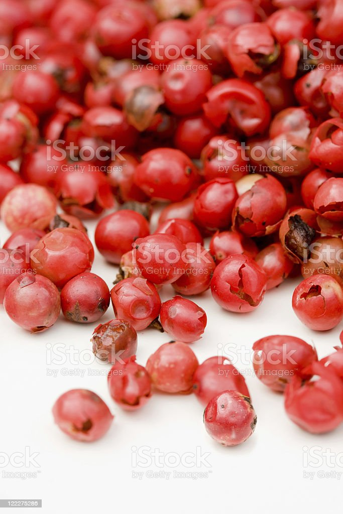 Red peppercorns royalty-free stock photo