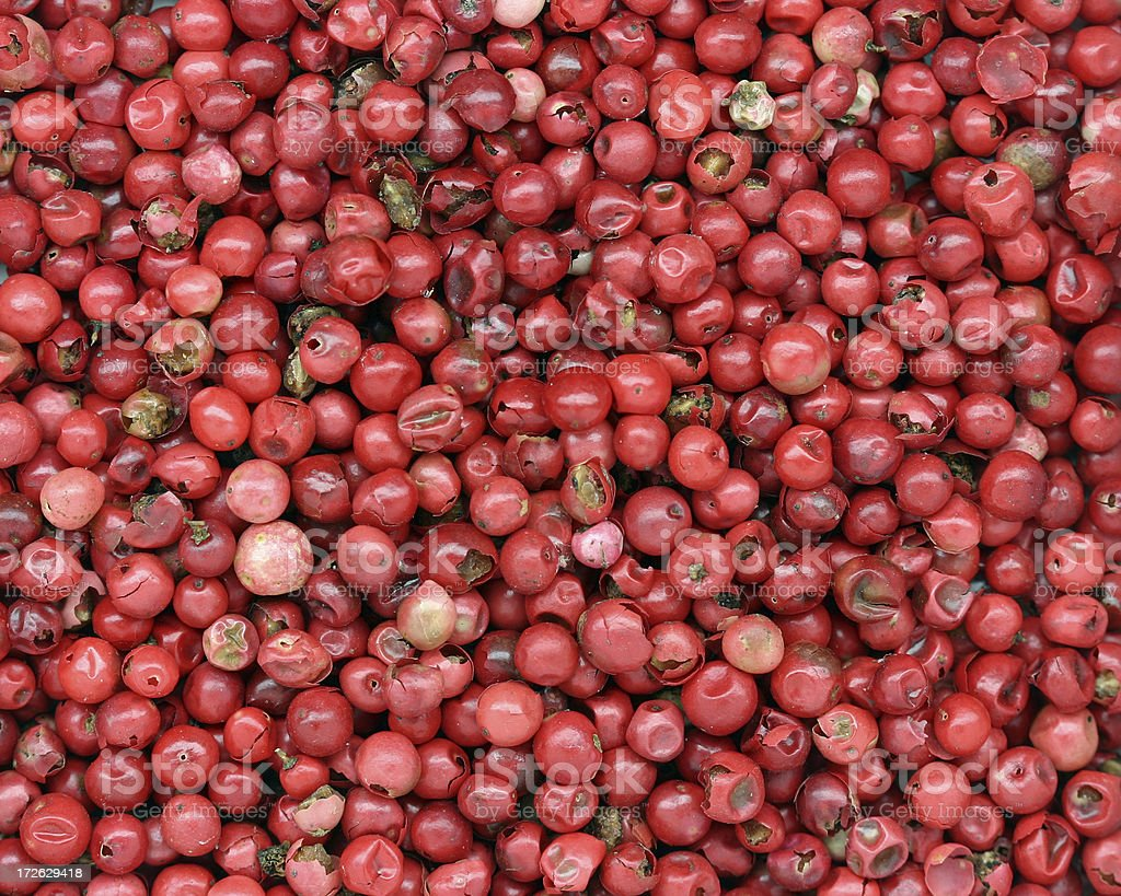 red peppercorns stock photo