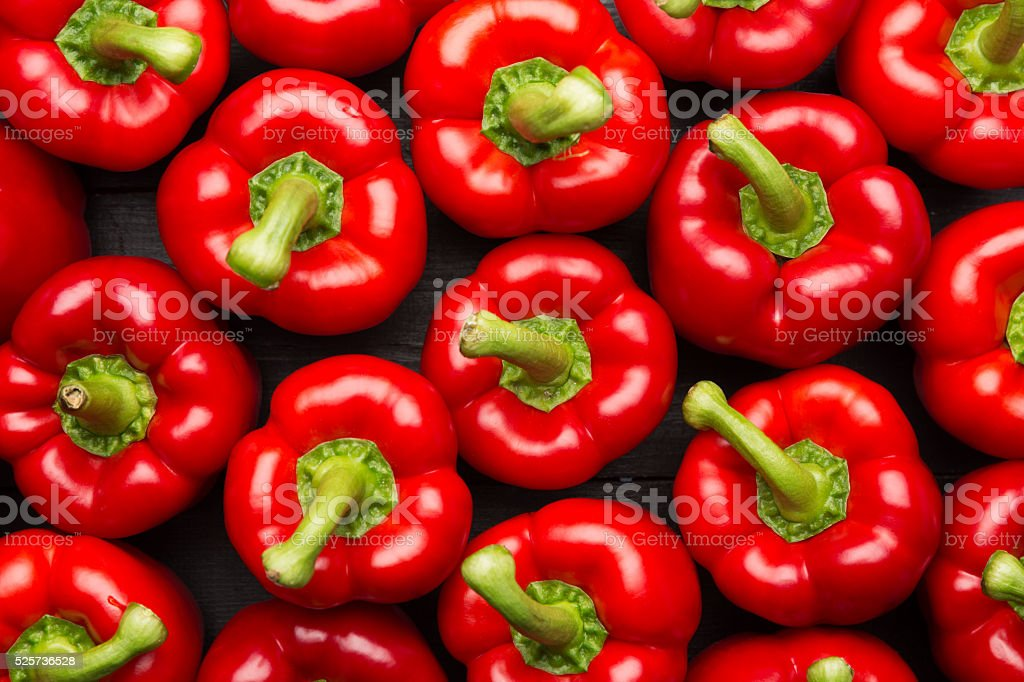 red peppers full frame background stock photo