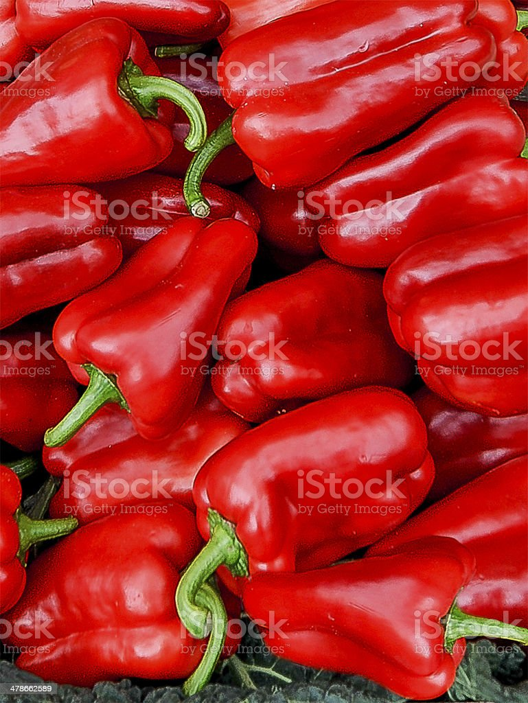 Red Peppers Stacked stock photo
