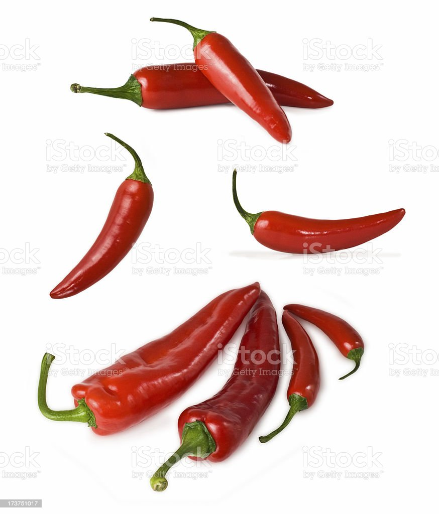 Red peppers XL stock photo