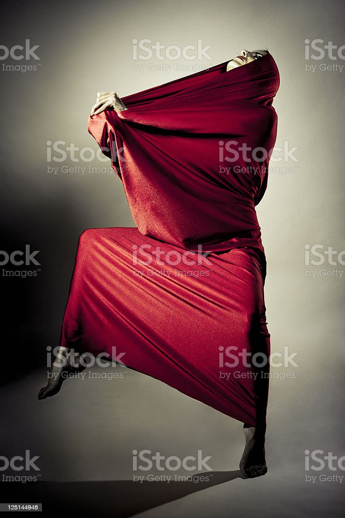 Red performance royalty-free stock photo