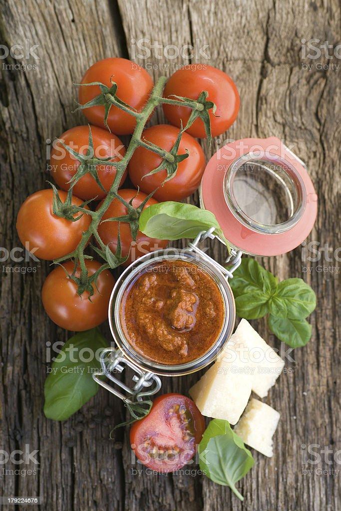 Red pesto royalty-free stock photo